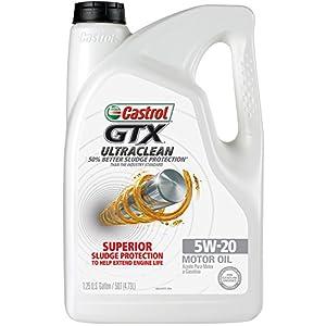 Castrol 03107 GTX ULTRACLEAN 5W-20 Motor Oil, 5 Quart