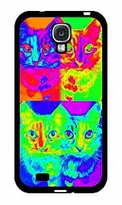Trippy Cat - TPU RUBBER SILICONE Case Back Cover Samsung Galaxy S4 I9500
