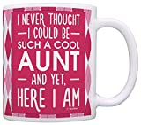 Mother's Day Gift for Aunt Never Thought I Could be such a Cool Aunt Gift Coffee Mug Tea Cup Argyle