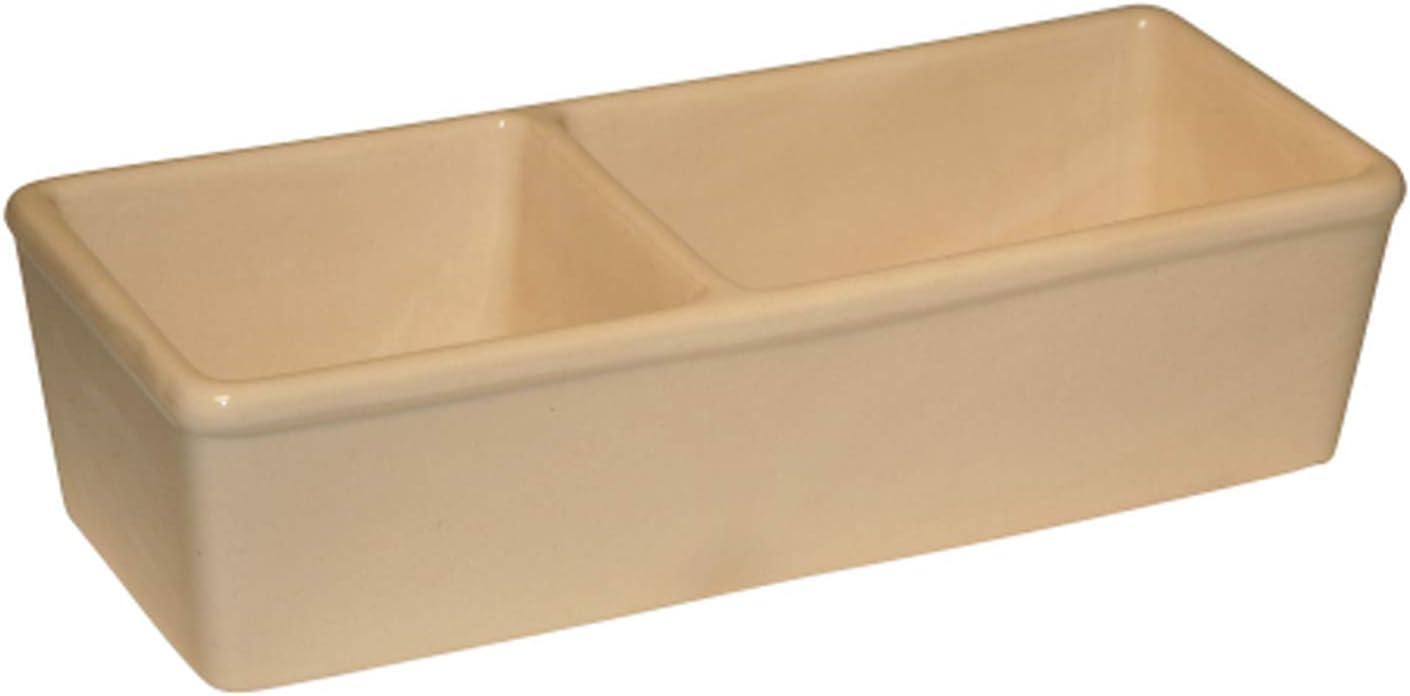 Kerbl Comedero de cerámica para roedores, Doble, 350ml + 450ml