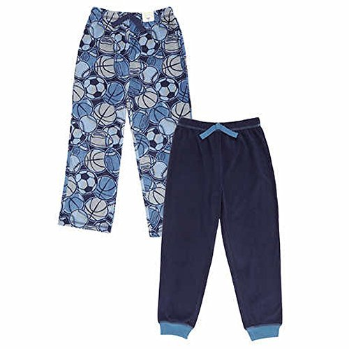 St. Eve Boys' Sleep Pant 2-pack Blue and Grey (7) (Fleece Pant Sleep Boys)