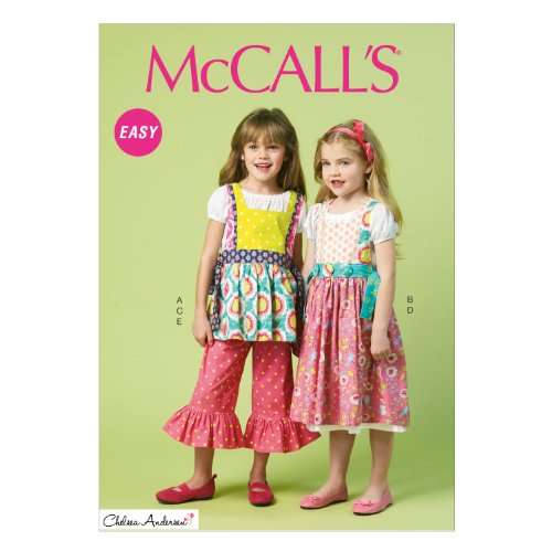 - McCall Pattern Company M6916 Chidren's/Girls Top Dress Pinafores and Pants, Size CL