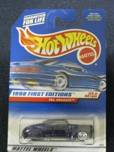Hot Wheels - 1998 First Editions - Tail Dragger - Purple - Die Cast - #24 of 40 Cars - Collector #659 - Limited Edition - Collectible