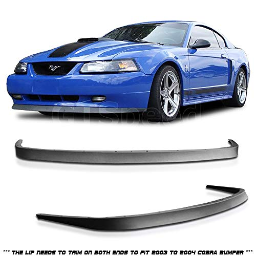 Cheap 1999-2004 Ford Mustang GT V6 V8 USDM OE Style Front Bumper Lip - PU for cheap