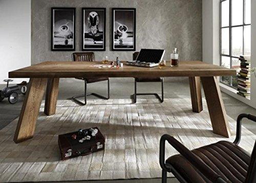 Esstisch Thor Bodahl Mobler Balkeneiche Smoked 180x100cm 2 Ansteckplatten  Braun Holz Massivholz Kaufen