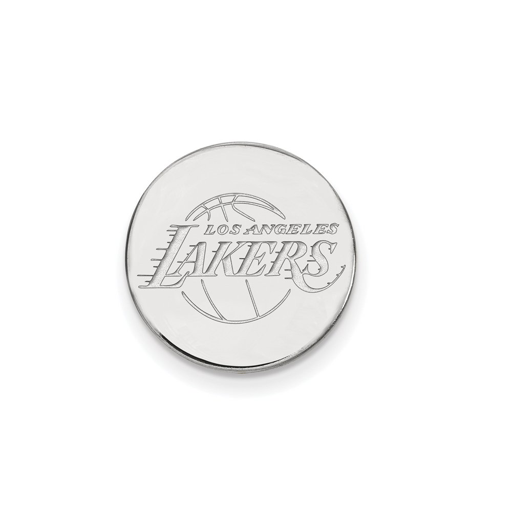 NBA Los Angeles Lakers Lapel Pin in 14K White Gold