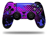 Cheap Vinyl Skin Wrap for Sony PS4 Dualshock Controller Halftone Splatter Blue Hot Pink (CONTROLLER NOT INCLUDED)