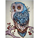 DIY Square Diamond Painting Kits for Adults Full Drill, Owl Animal Rhinestone Embroidery Cross Stitch Pictures Arts Craft Home Wall Decor 30x40 cm