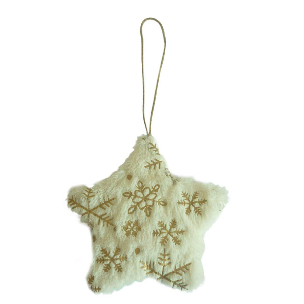 Christmas Tree Plush Hanging Ornaments and Decorations Xmas Tree Star Heart