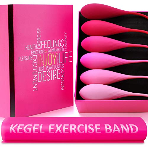 Kegel Exercise Weights - Ben Wa Balls Sets, Doctor Recommended Kit, Kegal Beginner Advanced, Benwa Products, Women Pelvic Floor Bladder Control Vaginal Tightening Urinary Incontinence