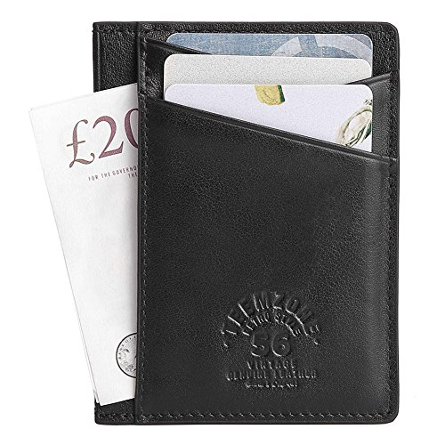 Mens Card Minimalist Holder Black Women Card Clip Brown Slim Pocket Card Contactless Front RFID Money Leather Protection Credit Blocking Travel Wallet Wallet 8w6cTqBF