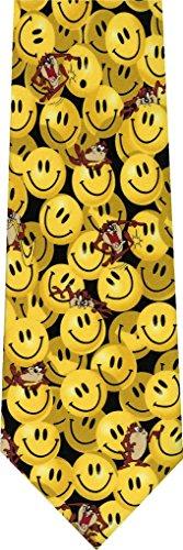 Taz Smiley Face Novelty Cartoon Necktie Face Necktie