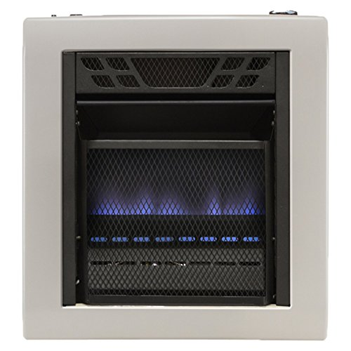 Cedar Ridge Hearth Dual Fuel Vent Free Blue Flame Heater - 10,000 BTU, T-STAT - Gas Vent Fireplace Direct Propane