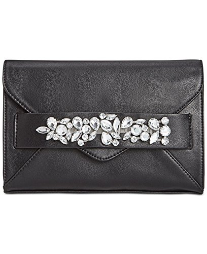 I.N.C.International Concepts Black Blaaire Clutch Purse With Chain (Tia Clutch)