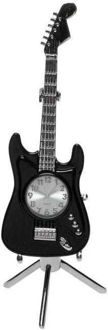 grands hommes cadeau Noir GUITARE ELECTRIQUE FENDER MINI horloge de bureau