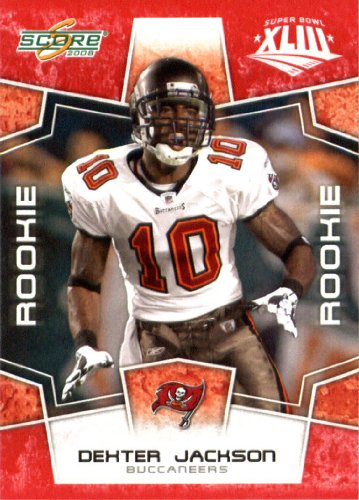 2008 Score Red Superbowl Edition Nfl Football Card  Only 2400 Made     377 Dexter Jackson  Rc   Rookie Card  Wr   Tampa Bay Buccaneers