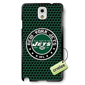 NFL New York Jets Team Logo Diy For SamSung Galaxy S6 Case Cover Black Hard(PC) Soft - Black