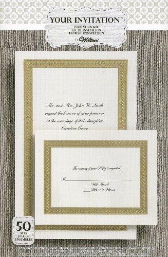 Elegance Invitation Kit (WILTON Braided Elegance Embossed INVITATION Kit 50-Count)