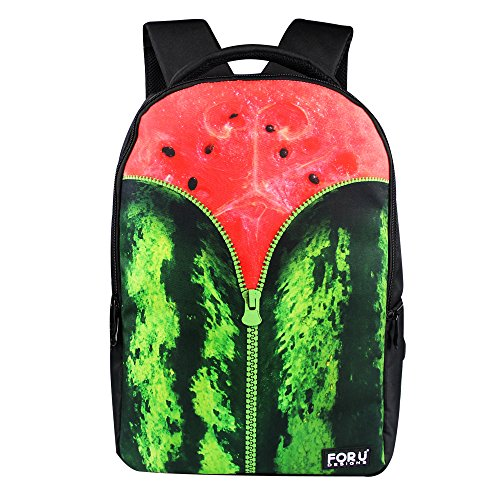 FOR U DESIGNS Funny Watermelon Travel Outdoor Sport Backpack Girls Rucksacks Bookbags for Teens