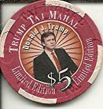 $5 trump taj mahal donald trump casino chip atlantic city new jersey offers