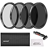 Neewer 67MM Neutral Density ND Filter ND2/ND4/ND8/ND16 and Accessory Kit for Canon EOS Rebel T5i T4i T3i DSLR Camera with 18-135MM Zoom Lens