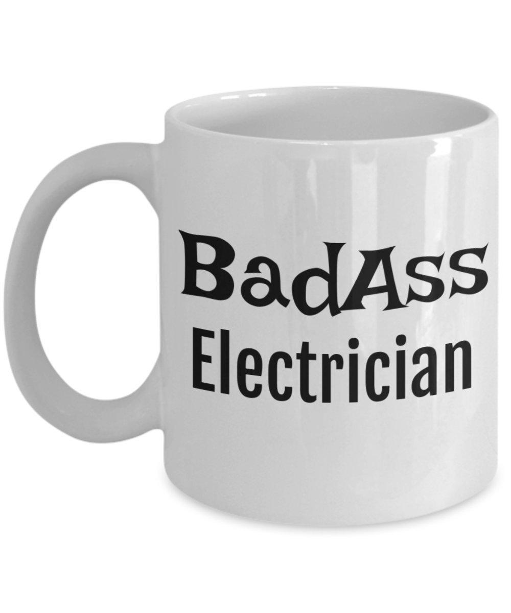 Amazon.com: Electrician Gifts – Badass Electrician Mug – Sarcasm ...