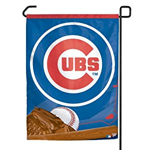 Amazoncom MLB Chicago Cubs Garden Flag Sports Fan Outdoor