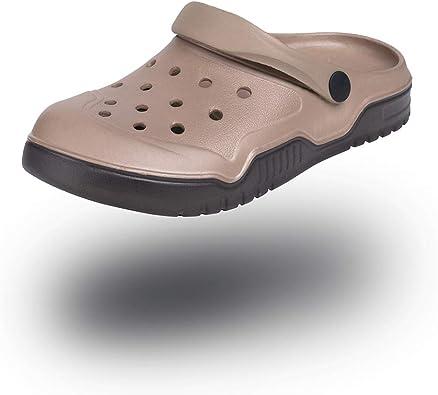Zuecos Hombre Mujer Verano Sandalias Sanitarios Clogs Zapatillas de Casa Enfermera Jardín Antideslizantes Cocina Playa Negro Azul Marrón Blanco Talla 35-47: Amazon.es: Zapatos y complementos