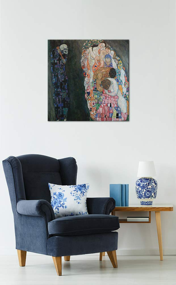 Wandbild Gustav Klimt - Lebensbaum 60x80cm - Wandbild Wandbild Wandbild Alte Meister Bild auf Leinwand Gemälde B07KJB4CHR Leinwanddrucke 0a7731