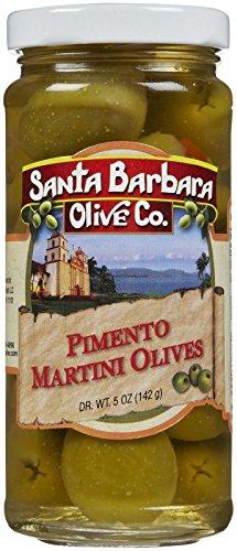 Santa Barbara Pimento Martini Style Olives, 5 Ounces (Pack of 6)
