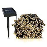 #7: Christmas Solar Led Fairy Lights -Waterproof - Ambiance lights for Outdoor, Patio, Fairy Garden, Home, Wedding, Christmas Party, Xmas Tree(Warm White) (40 ft Cable, 100 lights)