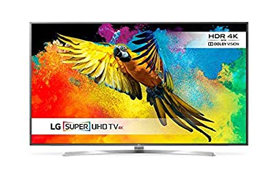 "LG 75UH855 75"" UHD 4K HDR Pro Ultra Slim Multi-System Smart Wi-Fi LED TV 110-240V with Free HDMI Cable"