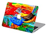 Customized Creative Flowing Color Series Colorful Paint Special Design Water Resistant Hard Case for Macbook Air 13'' (Model A1369/a1466)