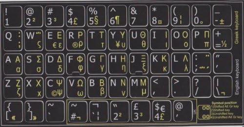 Teclas autoadhesivas con teclado griego y inglés