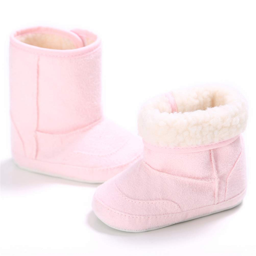 Baby Faux Fleece Snow Boot Cotton Booties Winter Warm Soft Sole Crib Shoes