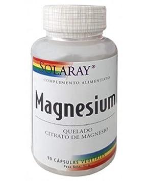 Magnesio 90 cápsulas de 133 mg de Solaray: Amazon.es: Salud y cuidado personal
