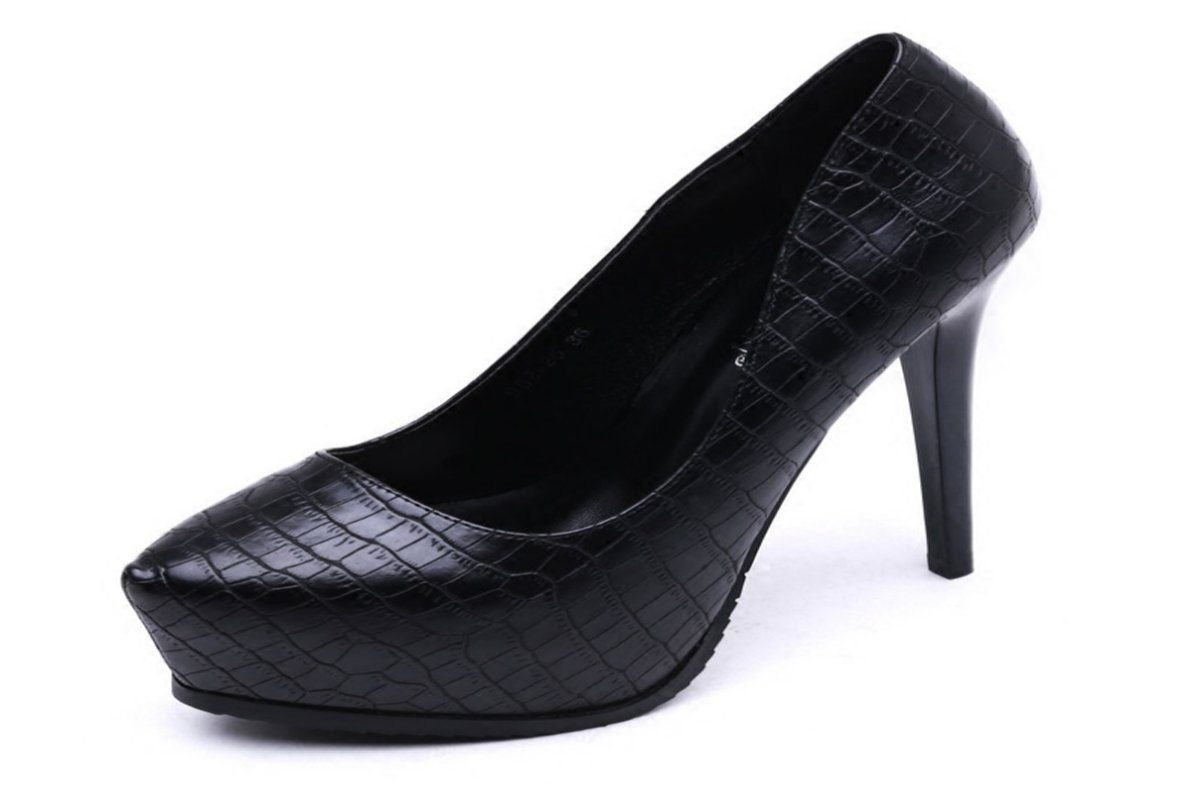 GTVERNH Comfort/women's shoes/Fine With 13Cm Super High Heel Waterproof Table Pointed Shoes Sexy Night Spring Women'S Shoes.Thirty-Six Black