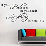 AIMTOPPY Believe Anything is Possible Inspirational Wall Sticker Decals DIY BK