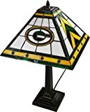 NFL Mission Style Stained Glass Table Lamp NFL Team: Green Bay Packers