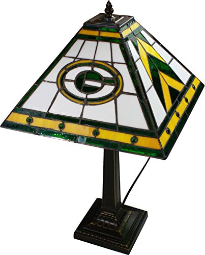 NFL Mission Style Stained Glass Table Lamp NFL Team: Green Bay Packers by The Memory Company