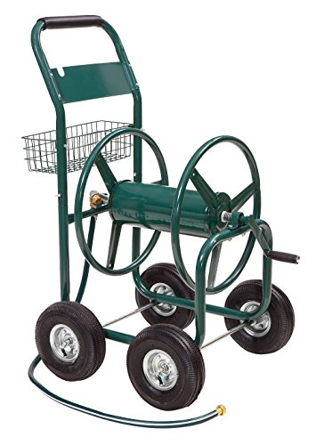 Liberty Garden 872-2 Residential 4-Wheel Steel Garden Hose Reel Cart, Holds 350-Feet of 5/8-Inch Hose - Green