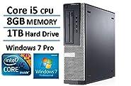 2016 Dell Optiplex 390 Business High Performance Desktop Computer PC (Intel Quad-Core i5-2400 up to 3.4GHz, 8GB DDR3, 1TB HDD, HDMI, DVD, Windows 7 Pro 64-bit) (Certified Refurbished)