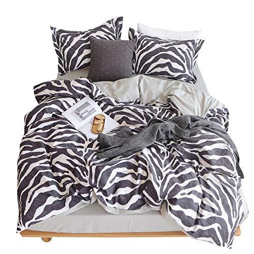 (VKStar King Duvet Cover Set 100% Cotton with Zipper Closure,Soft Modern King Bedding Sets,Leopard Print Pattern,King Duvet Cover and 2 Pillow Shams,NO)