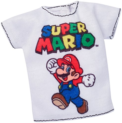 Barbie Super Mario White Shirt Fashion