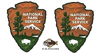 "2pcs National Park Service Bumper Sticker Decal 4"" x 5"" / Sticker / Helmet / Laptop - AG HOLMES"