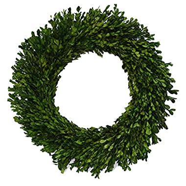 Flora Decor Preserved Garden Boxwood Wreath 22