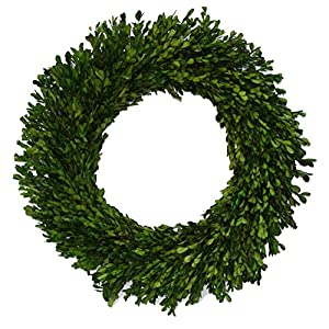 "Flora Decor Preserved Garden Boxwood Wreath 22"" 61"