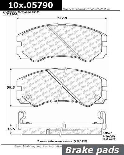 StopTech 103.05790 Brake Pad Ceramic