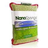 Nano Sponge Cleaning Sponges | Supersized Everyday Heavy Duty Large Household Kitchen, Dish, Tile, Floor & Baseboard Cleaner Sponge | 2 pack 6 x 4""