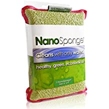 """Nano Sponge Cleaning Sponges. Supersized Everyday Heavy Duty Household Kitchen and Dish Sponge. 2 pack. 6 x 4"""" (6x4)"""